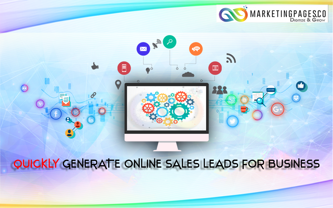 Quickly generate online sales leads for business